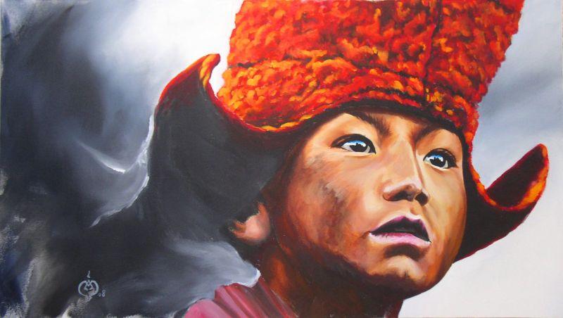 enfants et femmes et hommes du tibet dans Visages d'ailleurs regarddailleurs